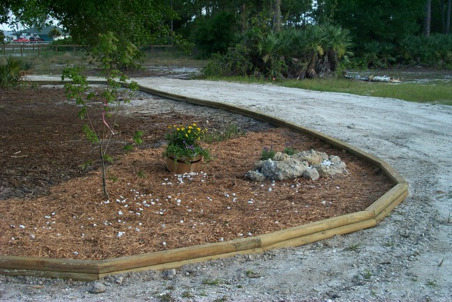 Landscape Timbers Pictures : Island now trimmed with landscape timbers and starting to